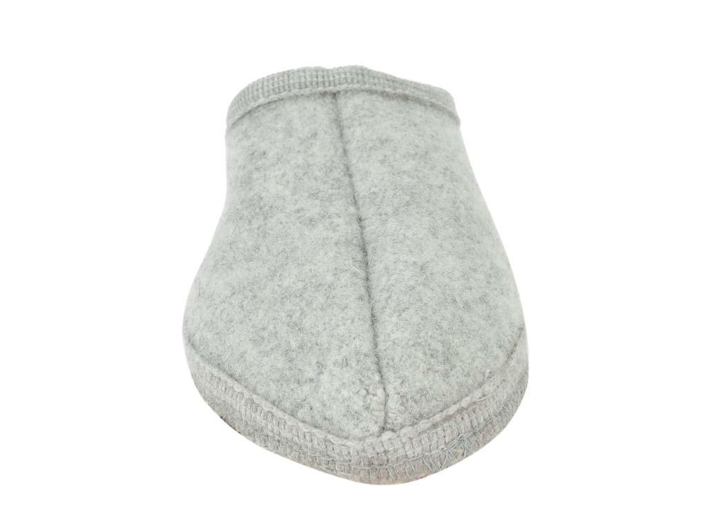 Haflinger Slippers Alaska Light Grey front view