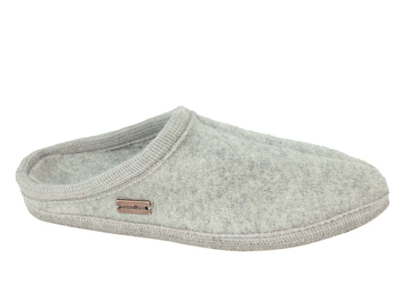 Haflinger Slippers Alaska Light Grey side view