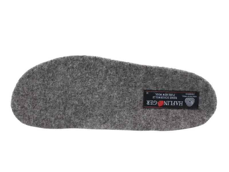 Haflinger Slippers Dakota Classic Anthracite insole view