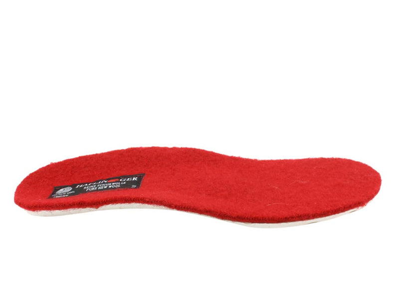 Haflinger Slippers Dakota Classic Red insole view