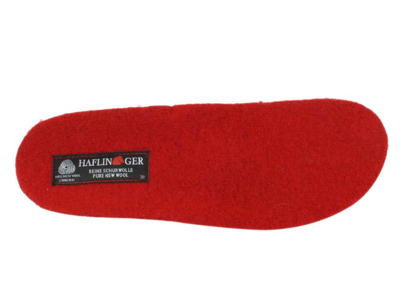 Haflinger Slippers Dakota Classic Red insole