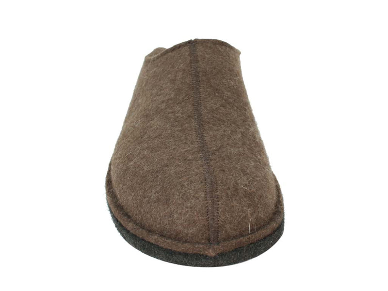 Haflinger Slippers Flair Smily in brown front view
