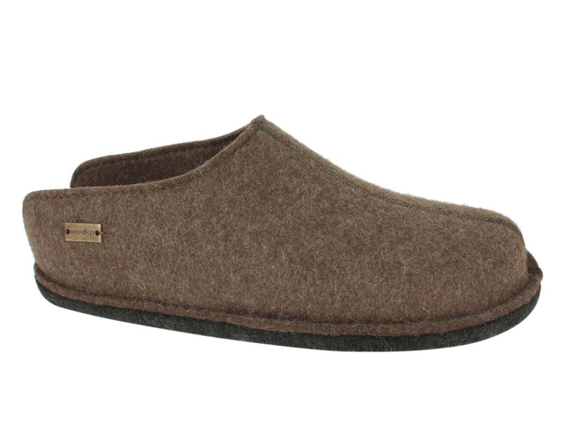 Haflinger Slippers Flair Smily in brown side view