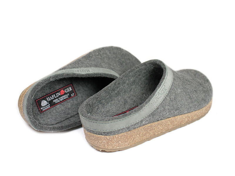 Haflinger Grizzly Torben Felt Clogs Anthracite