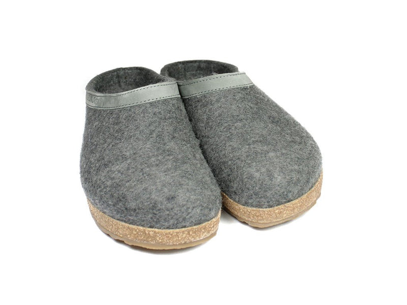 Haflinger Grizzly Torben Felt Clogs Anthracite pair