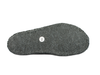 Haflinger Alaska Slippers Navy & Green sole view
