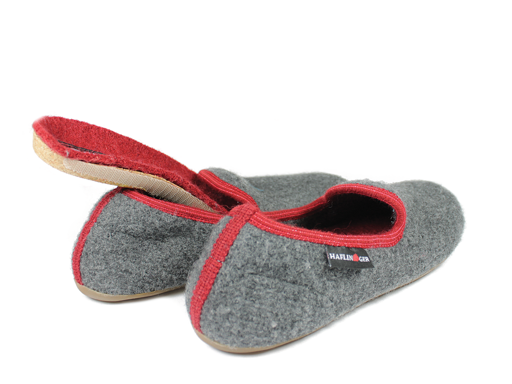 Haflinger Everest Charlie Doggy Anthracite Slippers