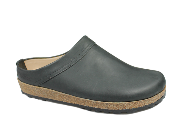 Haflinger Leather Clogs Malmo Black