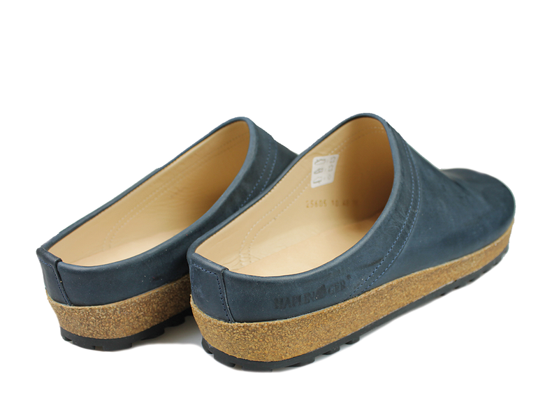 Haflinger Malmo Leather Clogs Navy