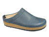 Haflinger Leather Clogs Malmo Navy