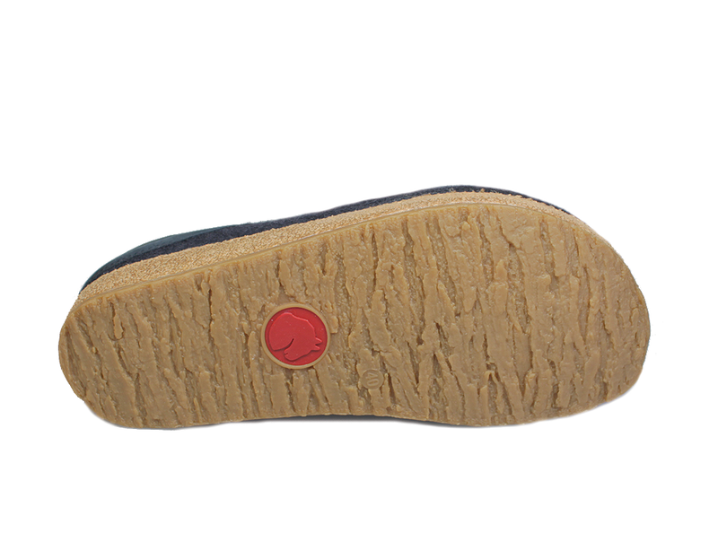Haflinger Grizzly Torben Felt Clogs Black sole view