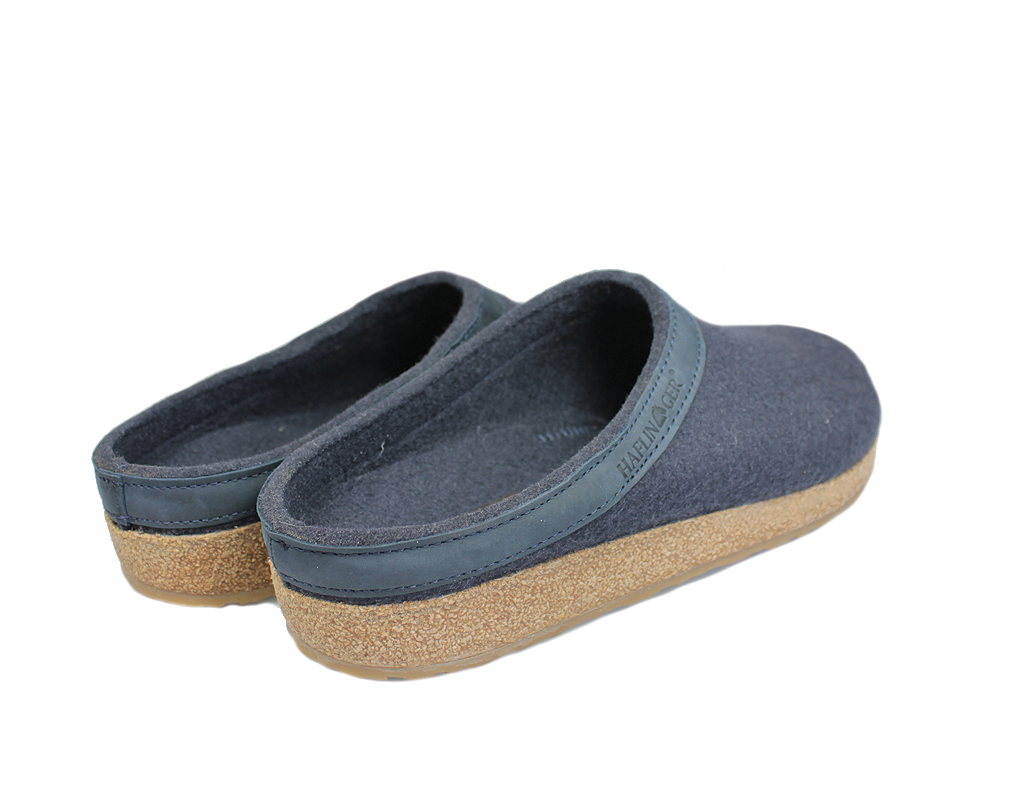 Haflinger Grizzly Torben Felt Clogs Dark Navy