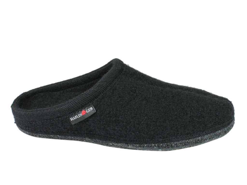 Haflinger Alaska Slippers Black