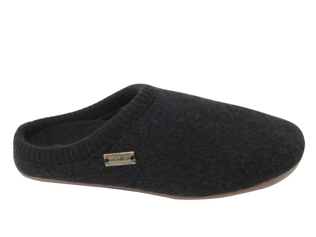 Haflinger Slippers Dakota Classic Black side view