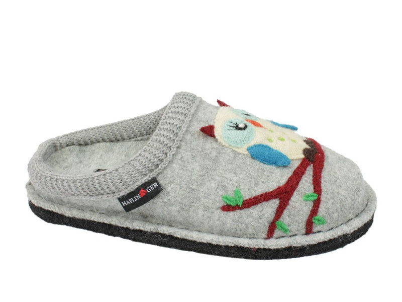 Haflinger Slippers Flair Olivia Grey side view