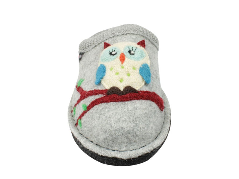 Haflinger Slippers Flair Olivia Grey front view
