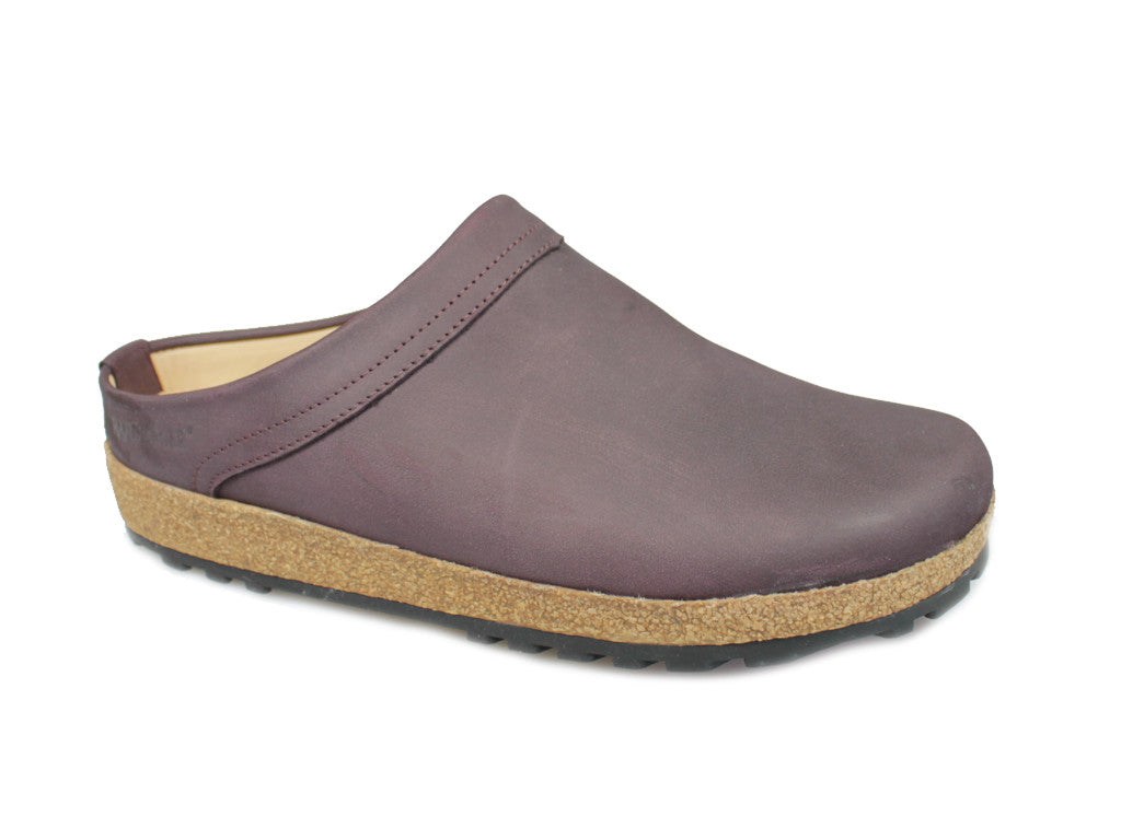 Haflinger Malmo Leather Clogs Malve