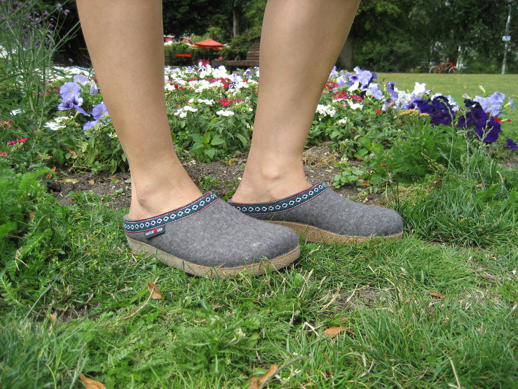 Haflinger Clogs Grizzly Franzl Anthracite