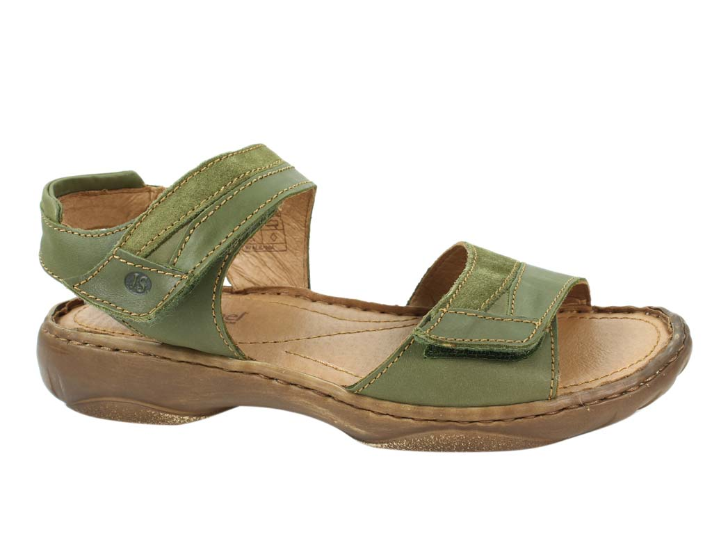 Josef Seibel Sandals Debra 19 Oliv side view