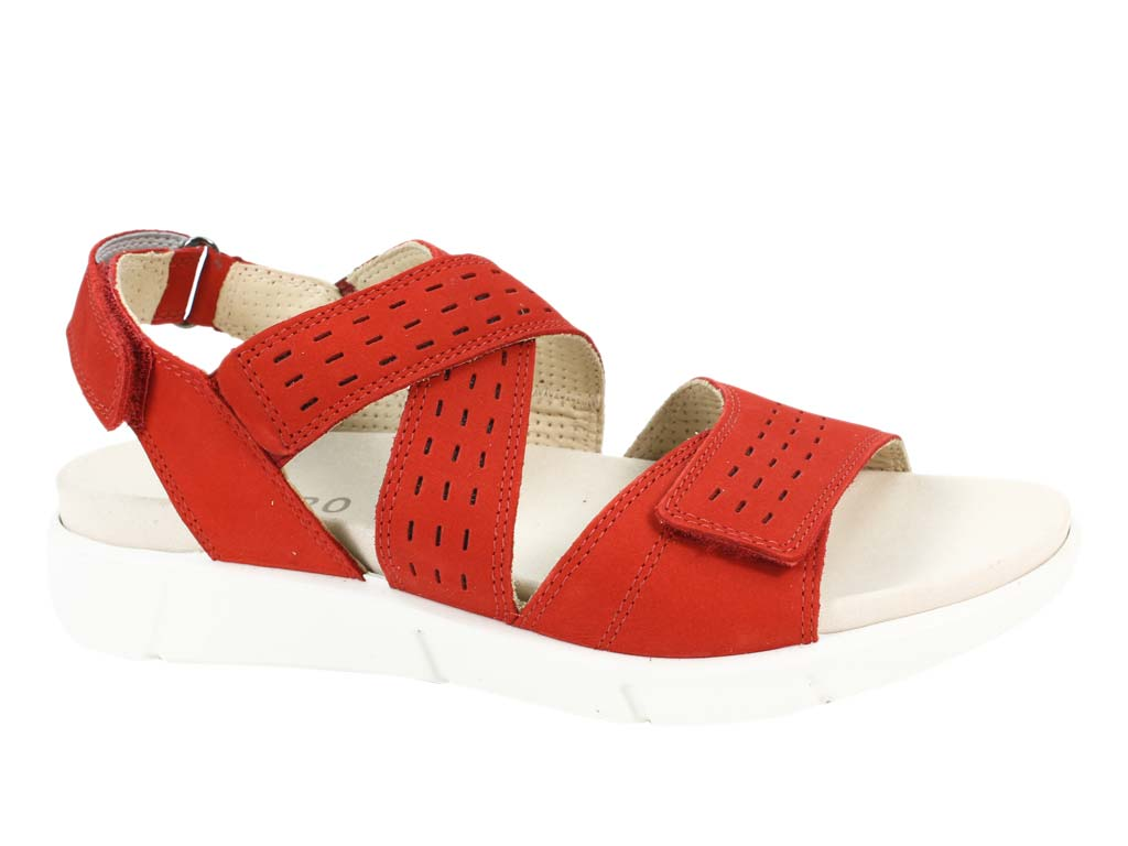 Legero Sandals Fano Chili Red side view