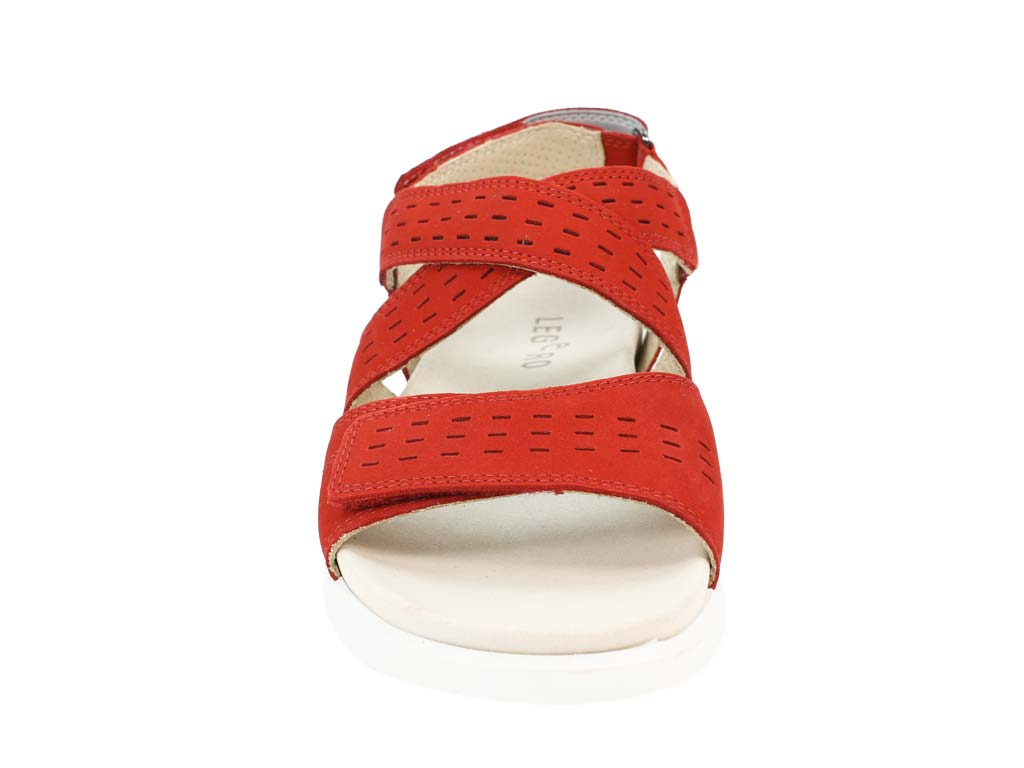 Legero Sandals Fano Chili Red front view