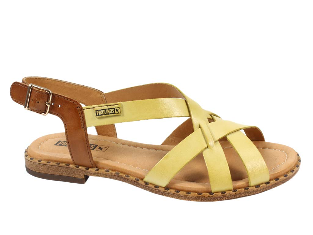 Pikolinos Sandals Algar Sol Yellow side view