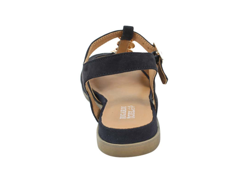 Regarde le Ciel Sandals Nelly Navy back view