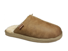 Shepherd Hugo Sheepskin Slippers Antique/Cognac