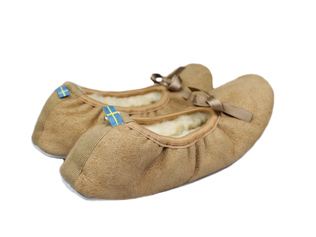 Shepherd Saga Sheepskin Slippers Camel 1208-55