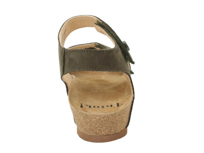Think Sandals Dumia 86371-62 Olive back view