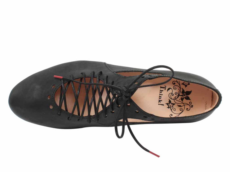 Think Women Shoes Guad 86284-00 Black top view