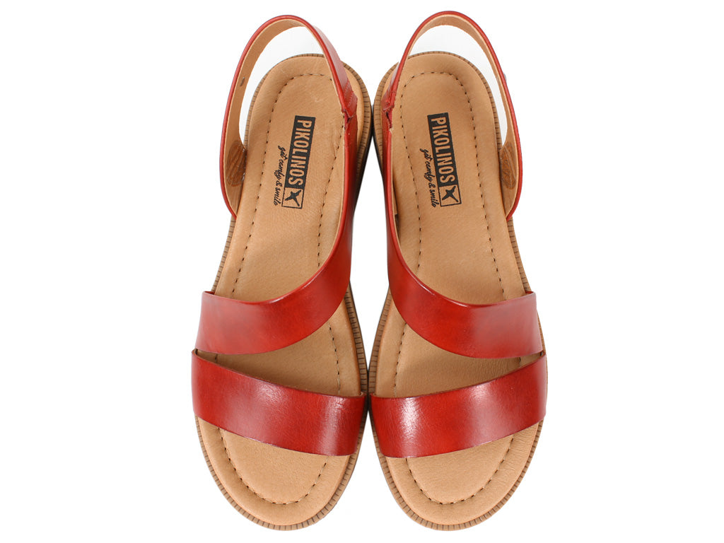 Pikolinos Women Sandals Moraira W4E-0834 Coral upper view