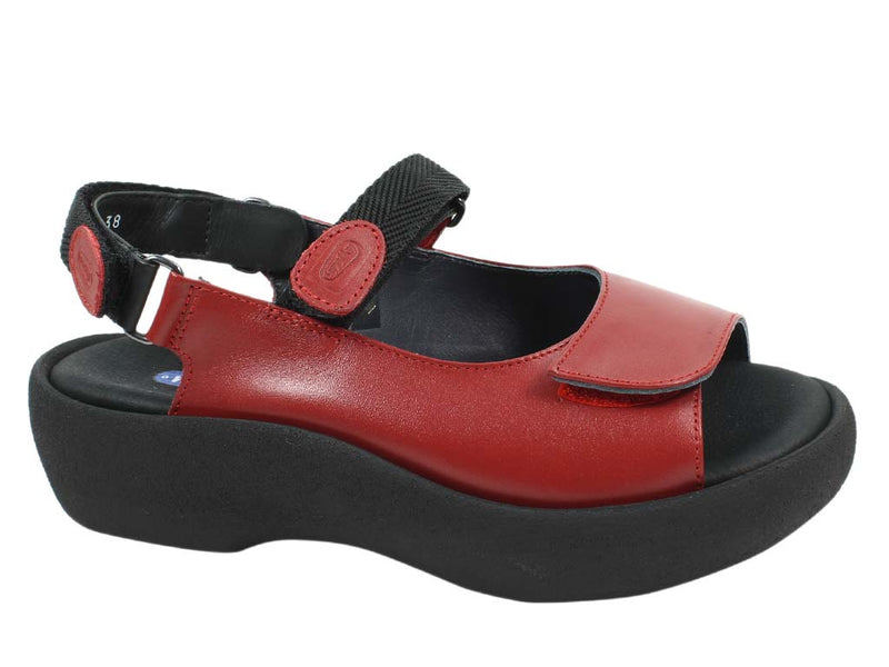 Wolky Women Sandals Jewel Red side view