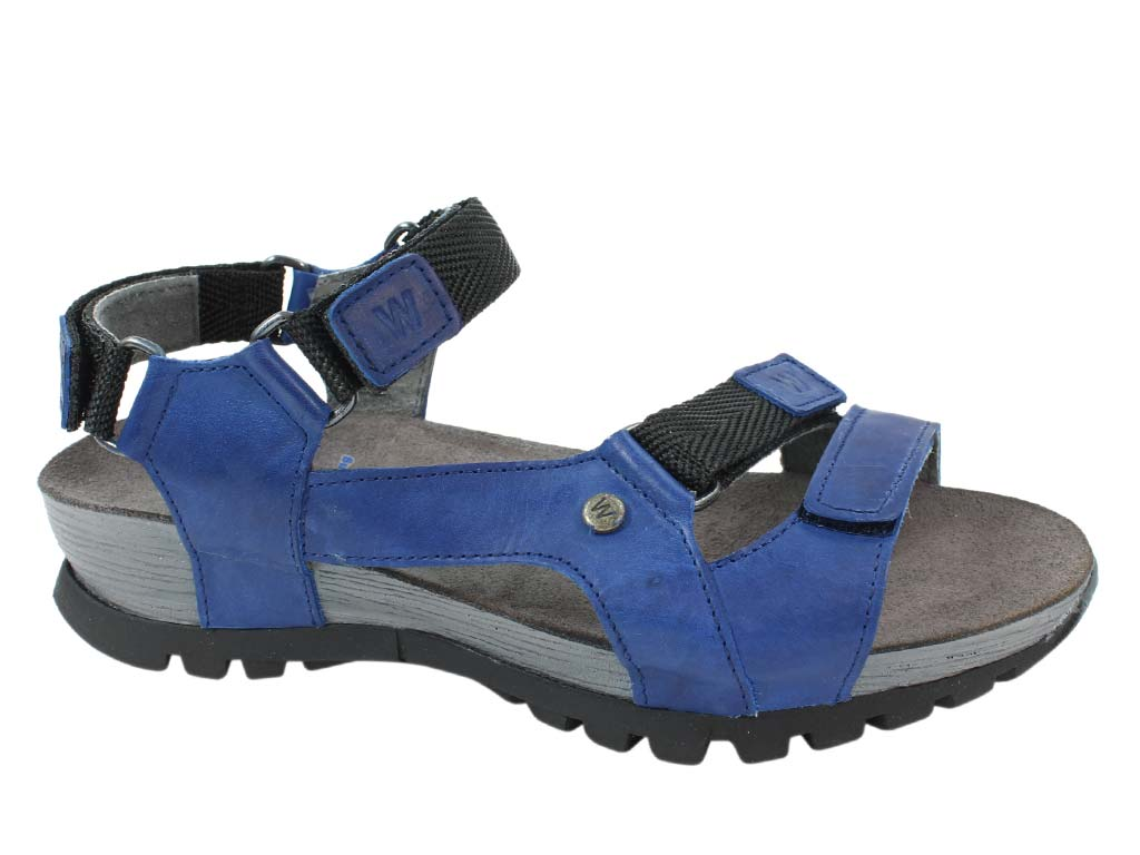 Wolky Sandals Cradle Jeans side view