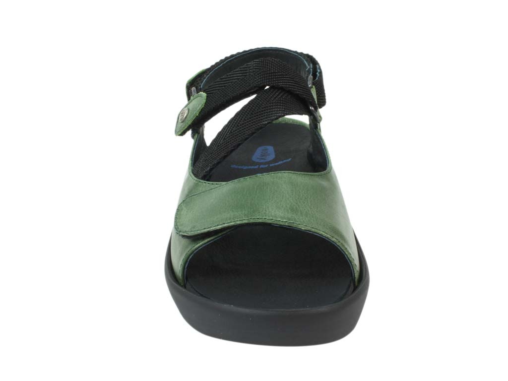 Wolky Sandals Lisse Green front view