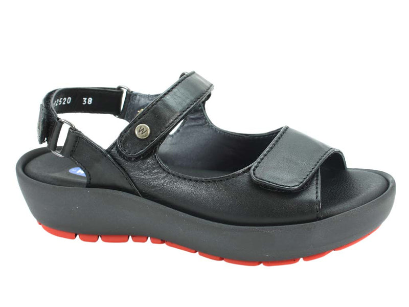 Wolky Women Sandals Rio Black side view