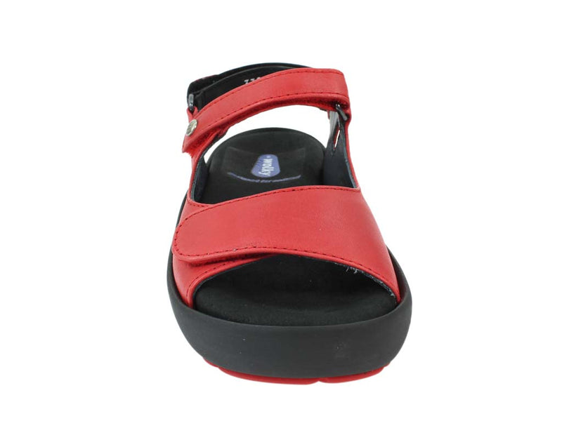 Wolky Women Sandals Rio Red front view