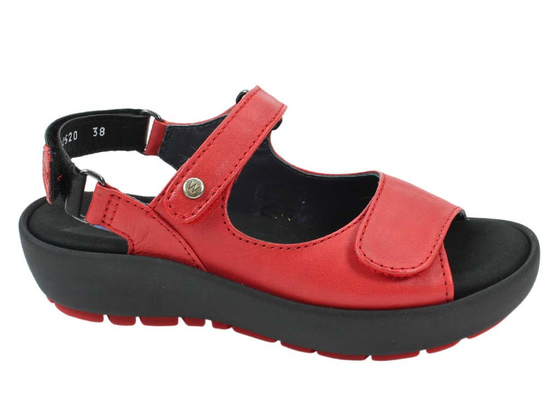 Wolky Women Sandals Rio Red side view