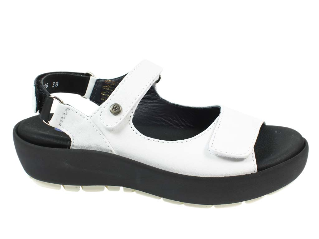 Wolky Women Sandals Rio White side view