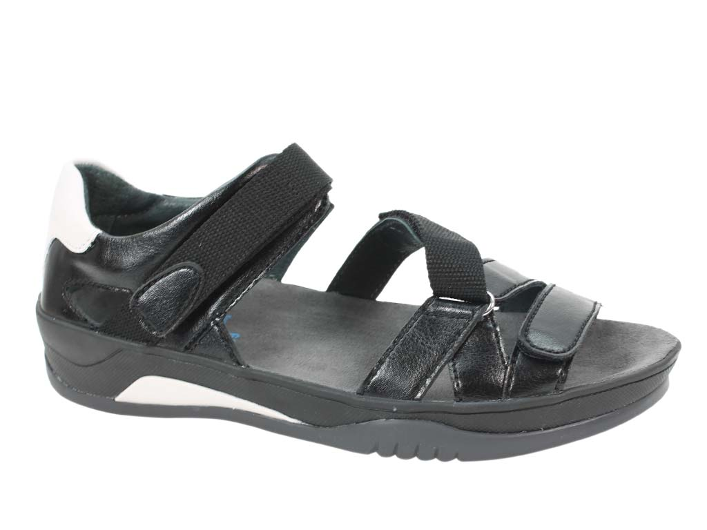 Wolky Sandals Ripple Black side view