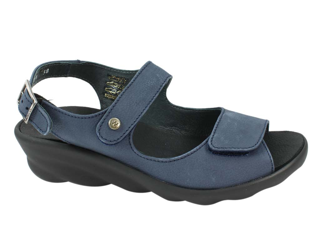 Wolky Sandals Scala Denim side view