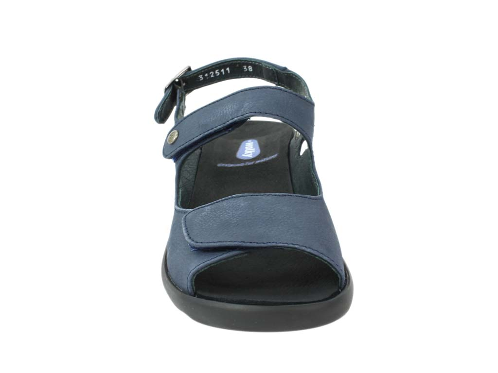 Wolky Sandals Scala Denim front view