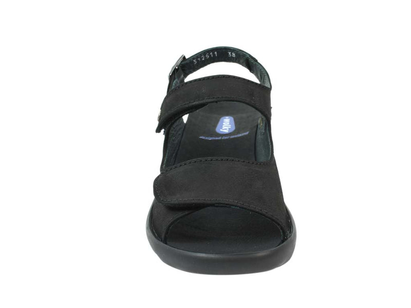 Wolky Women Sandals Scala Black front view