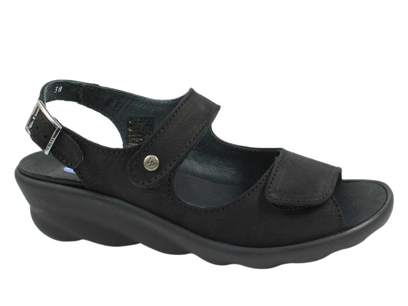 Wolky Women Sandals Scala Black side view