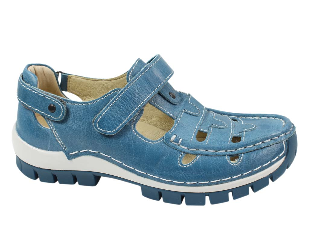 Wolky Shoes Move Sky Blue side view