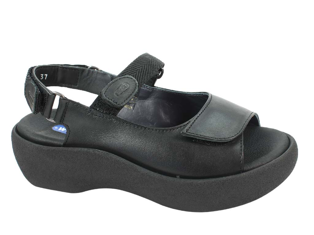 Wolky Women Sandals Jewel Black side view
