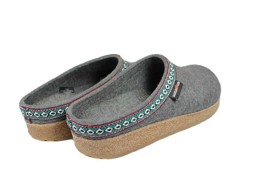 Haflinger Grizzly Classic Felt Clogs Anthracite