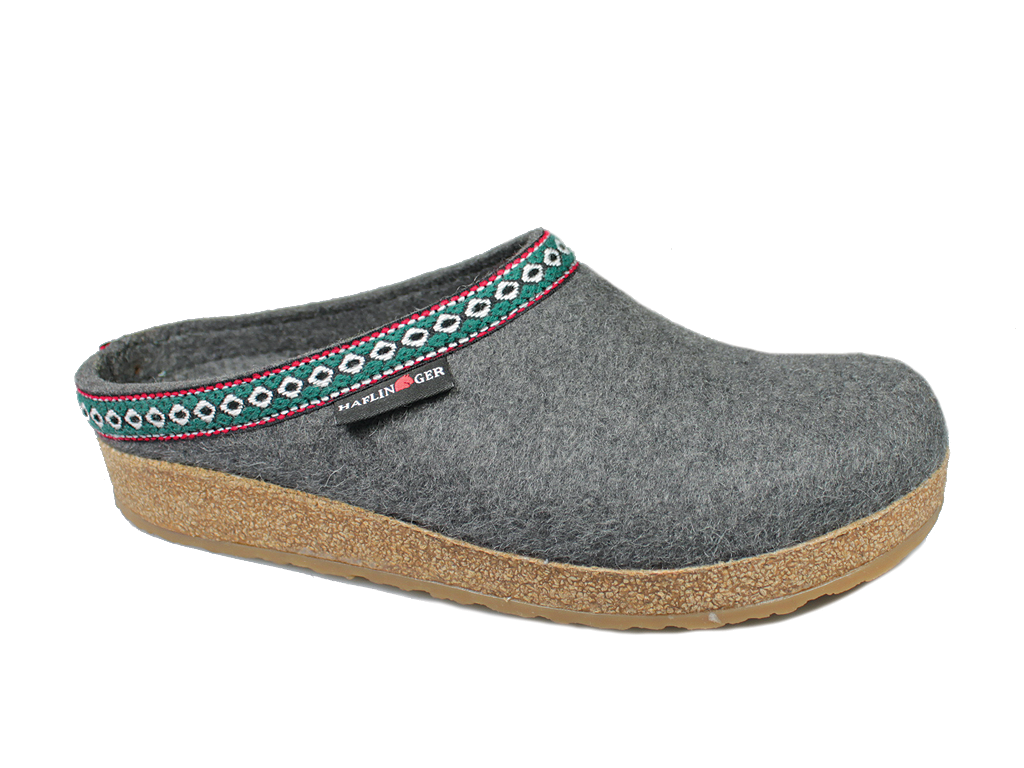 Haflinger Grizzly Franzl Felt Clogs Anthracite