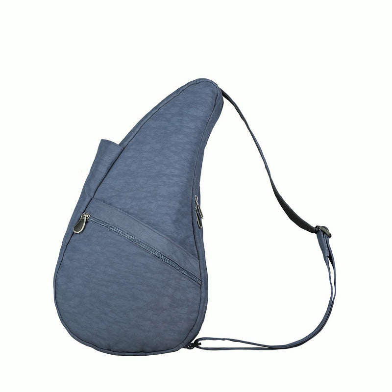 Healthy Back Bag Textured Nylon - Indigo Small left side