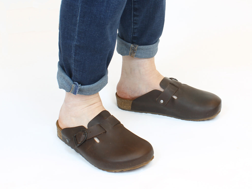 Haflinger Leather Clogs Lorenzo Brown
